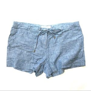 Michael Kors Linen Shorts Blue 4